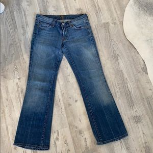 7 cropped boot. Med wash